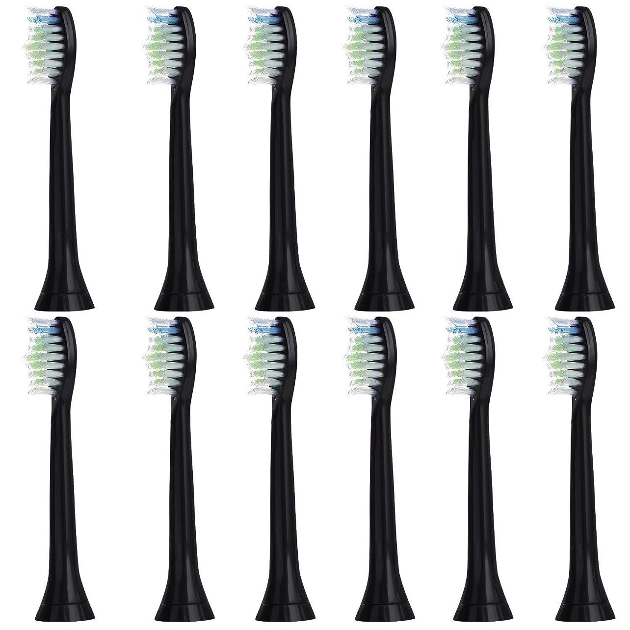 一族チャンピオン先例12個セット (3x4) E-Cron? Philips ソニッケアーダイヤモンドクリーン ブラック替ブラシ。次のフィリップス電動歯ブラシのモデルとの完全互換性があります: DiamondClean、FlexCare、FlexCare Platinum、 FlexCare(+)、 HealthyWhite、2シリーズ、EasyClean およびPowerUp。