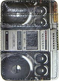 Shag Wear Men's Retro Inspired Magic Trick Wallet Vintage Boombox Pattern