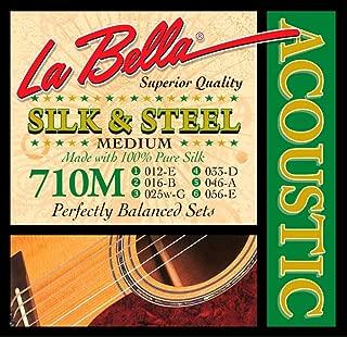 La Bella 710 Meters Silk Steel Acoustic Guitar Strings - Medium