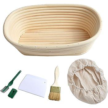 Alivier Corbeille A Pain Ovale Banneton Brotform Pour Le Pain De 28cm Pour Le Pain Fait Maison Cuisine Maison Rangement Pour La Cuisine