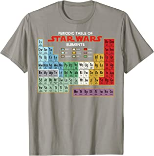 Star Wars Periodic Table of Elements Graphic T-Shirt C1