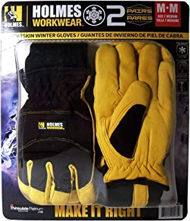 Mike Holmes Workwear Goatskin Winter Gloves - 2 pairs (Medium)