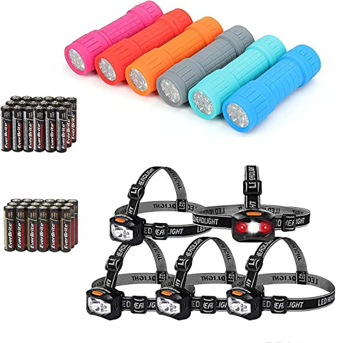 lowest EverBrite outlet online sale 6-pack Flashlights & outlet sale 5-pack Headlamps, AAA Battery Included outlet online sale