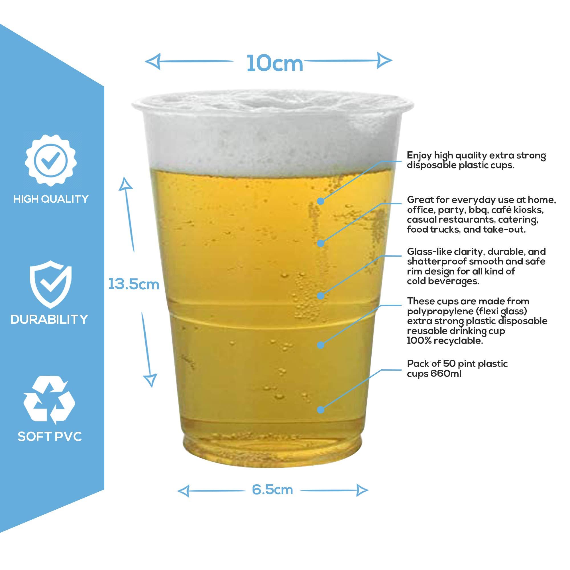 Vasos de Cerveza de Plástico Desechables para Pintas, Pimms y ...