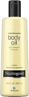 Neutrogena Lightweight Body Oil for Dry Skin, Sheer Moisturizer in Light Sesame Formula, 8.5 fl. oz