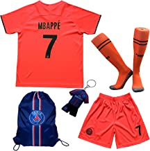 LES TRICOT 2019/2020 Paris Away #7 MBAPPE Football Futbol Soccer Kids Jersey Shorts Socks Set Youth Sizes