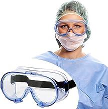 Safety Goggles FDA Registered, Z87.1 Safety Glasses Anti-Fog Eye Protection-Medical Goggles Fit Over Eyeglasses-Unisex Ult...