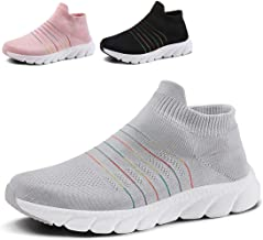 QZBAOSHU Women Lightweight Walking Shoes Breathable Running Trainers Casual Sports Shoes Fashion Sneakers