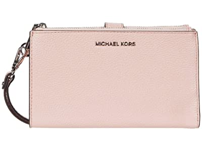 MICHAEL Michael Kors Double Zip Wristlet (Smokey Rose) Wristlet Handbags