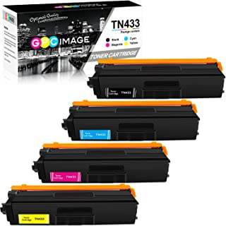 GPC Image Compatible Toner Cartridge Replacement for Brother TN433 TN433BK to use with HL-L8360CDW HL-L8360CDWT HL-L8260CDW MFC-L8900CDW MFCL8610CDW (1 Black, 1 Cyan, 1 Magenta, 1 Yellow, 4 Pack)