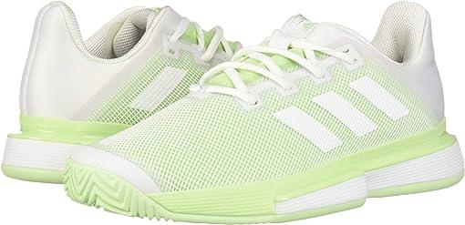 Footwear White/Footwear White/Glow Green