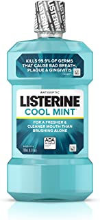 Listerine Cool Mint Antiseptic Oral Care Mouthwash to Kill 99% of Germs that Cause Bad Breath, Plaque and Gingivitis, ADA-...