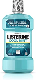 Listerine Cool Mint Antiseptic Mouthwash for Bad Breath, Plaque and Gingivitis, 250 ml