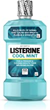 Listerine Cool Mint Antiseptic Oral Care Mouthwash to Kill 99% of Germs that Cause Bad Breath, Plaque and Gingivitis, ADA-Accepted Mouthwash, Cool Mint Flavor, 250 mL