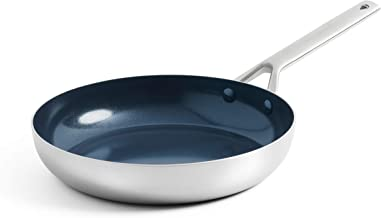 Blue Diamond Triple Steel Diamond-Infused Ceramic Nonstick Dishwasher, Oven, Broiler, Metal Utensil Safe Stainless Steel F...