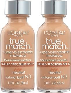 L'Oreal Paris Makeup Makeup Real Match Super Blendable Liquid Foundation ، Buff N3 Natural، 1 fl. اوز