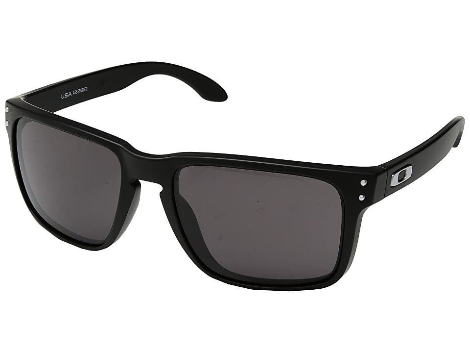 Oakley Holbrook XL (Matte Black w/ Warm Grey) Athletic Performance Sport Sunglasses