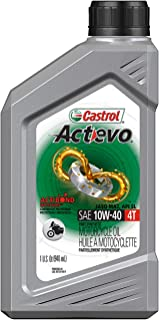 Castrol 06130 Actevo 10W-40 Part Synthetic 4T Motorcycle Oil - 1 Quart Bottle, (Pack of 6)