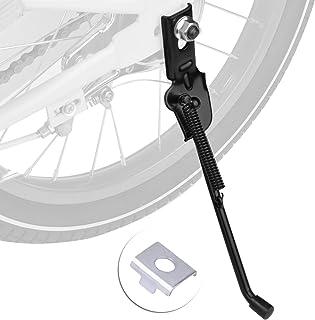 自転車サイドスタンド 座金付き Cyfie 12~18インチ車輪対応 キックスタンド 子供用自転車適用 ヘンシンバイク 補佐輪取り換え 片足汎用 ステンレス 片足
