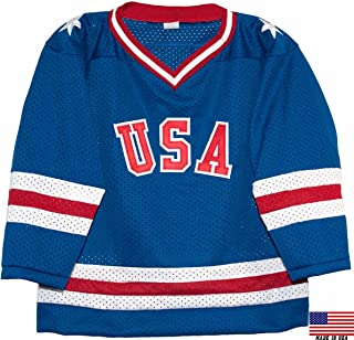 1980 USA Olympic Miracle on Ice Hockey Jersey (Child Sizes) (blue, 2/3)