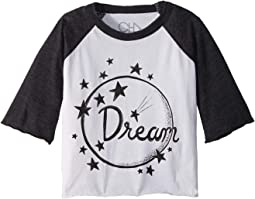 Extra Soft Jersey Dream Raglan Tee (Toddler/Little Kids)