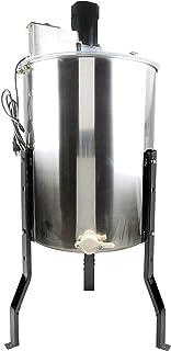 VIVO Electric 4 Frame Stainless Steel Honey Extractor | Honeycomb Drum Spinner (BEE-V004E)