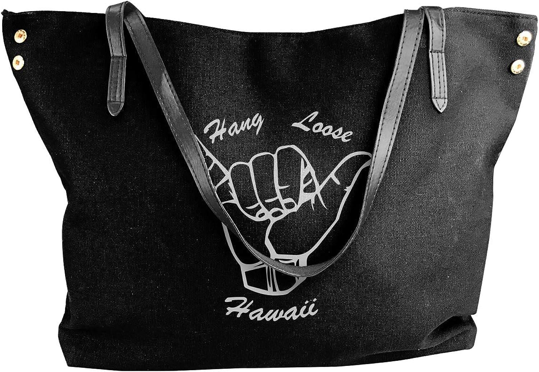 Hawaii Hang Loose Women'S Recreation Canvas Shoulder Bag For School Handbag