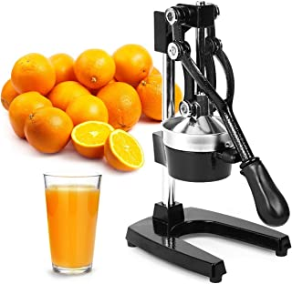Zulay Professional Citrus Juicer - Manual Citrus Press and Orange Squeezer - Metal Lemon Squeezer -