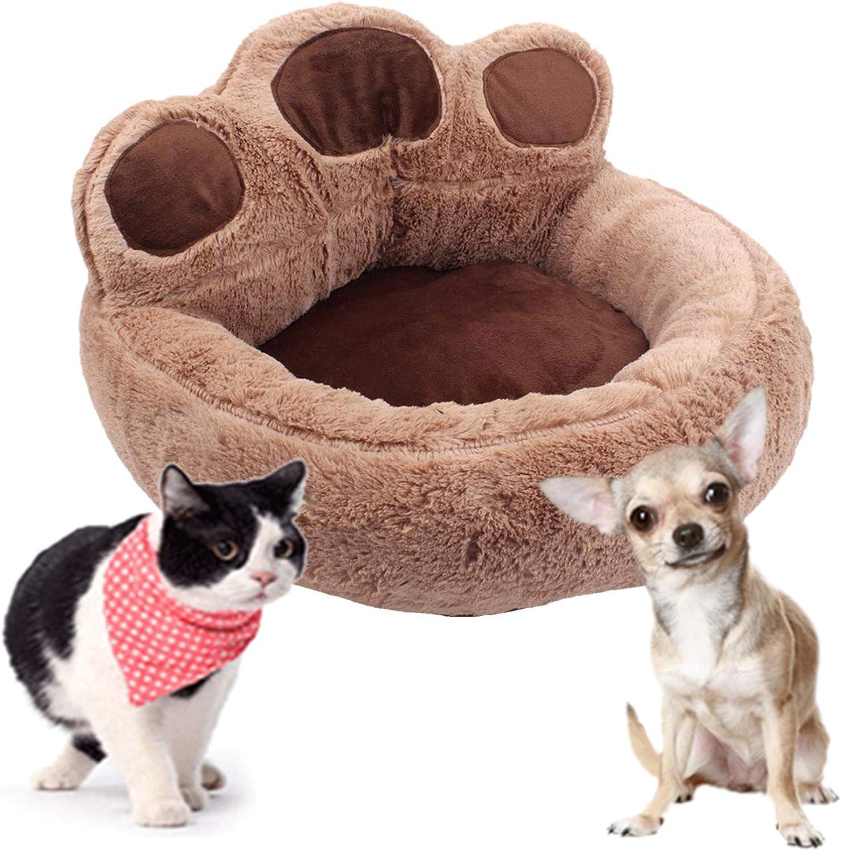 Plush Bear Paw Shape Pet SleeBed Warm Nest Washab Max 46% OFF Mat Ranking TOP7 Cat Winter
