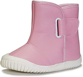 KVbabby Kids Winter Warm Snow Boots Boy's Girl's Fur Lined Boots Toddler PU Leather Waterproof Boot