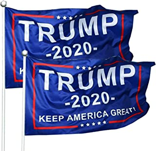 WIBIMEN 2 Packs President Donald Trump 2020 Flag Keep...