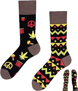 TODO COLOURS Calcetines – Jamaika – verrückte, divertidos, multicolor Calcetines para hombre y mujer