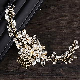 WANBAO Beautiful Crown Delicata Fascia per Capelli, Bride Pettini Capelli Capelli Persone Perla Headdress Gioielli Fatti a...