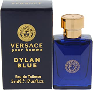 Versace Dylan Blue Mini Eau de Toilette Splash for Men, 0.17 Ounce