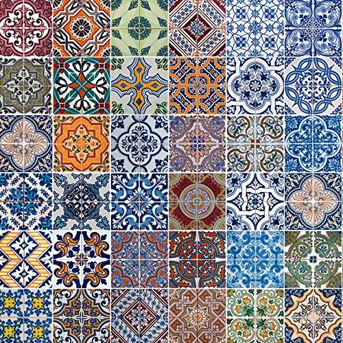 Küchenrück-Wand Artland Küchenspiegel Spritzschutz Hightech-Aluminium-Verbundplatten homydesign Gemusterte Keramikfliesen in verschiedenen Größen und Farben erhältlich