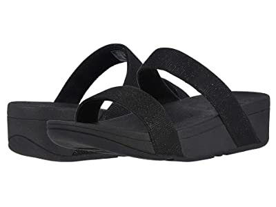 FitFlop Lottie Glitzy Slide (Black) Women