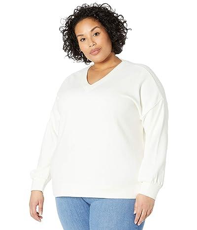 Madewell Plus Size V-Neck Drop Sleeve Sweatshirt Women