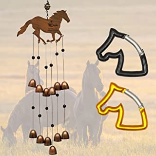 Cantik Horse Décor Gift Set – Hanging Wind Chime, 2 Horse Decals & 2 Horse Carabiners. A Unique Horse Themed Women, Girls...