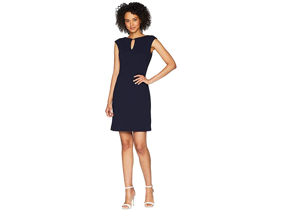 LAUREN Ralph Lauren Nadine Cap Sleeve Day Dress (Lighthouse Navy) Women