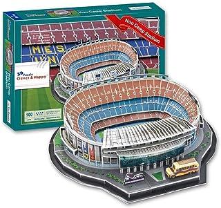 Modelo De Estadio Camp NOU, Modelo De Estadio Local del Futbol Club Barcelona Modelo De Rompecabezas 3DDIY Fanáticos Recuerdos De Regalo Rosa 16.1 '' × 13.7 '' × 4.9 ''