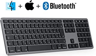 SEENDA Bluetooth ワイヤレスキーボード 充電式 MacBook/iMac/iPad/iPhone 対応 軽量 超薄 静音 3台マルチペアリング 109キー日本語配列 アルミ合金製 Mac 無線キーボード iOS & Mac OS 対応 グレイ