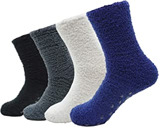 Men's 4 Pack Winter Thick Socks Warm Comfort Soft Fuzzy Floor Socks