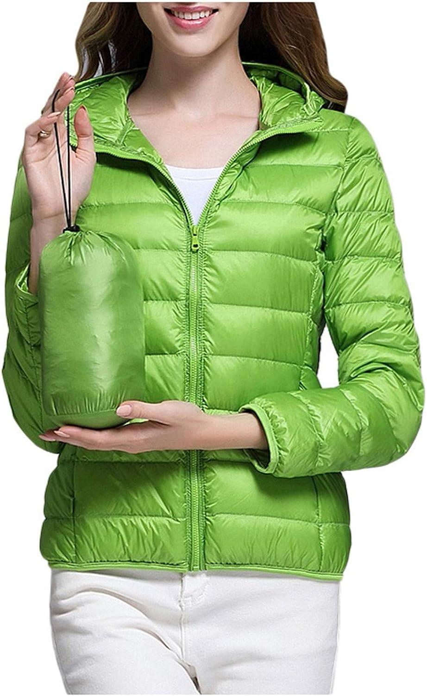 MAPIJIN Womens Casual Light Down Jacket 2020 Lightweight Full-Zip Water-Resistant Collar Short Coat with Pocket