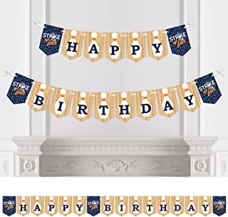 Big Dot of Happiness Strike Up the Fun - Bowling - Birthday Party Bunting Banner - Birthday Party Decorations - Happy Birthday