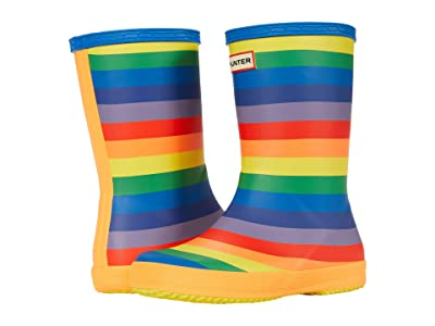 Hunter Kids Original First Classic Rainbow Print Wellington Boots (Toddler/Little Kid) (Multicolored) Kid