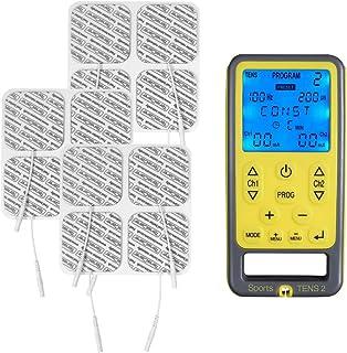 Tenscare Sports Tens 2+ Paquete de 12 Electrodos - Dispositivo de electroestimulación con Masaje, TENS, EMS y programas ma...