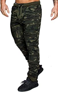 Men's Casual Joggers Fitness Sweatpants Military Camouflage Slim Fit Harem Trouser Pants