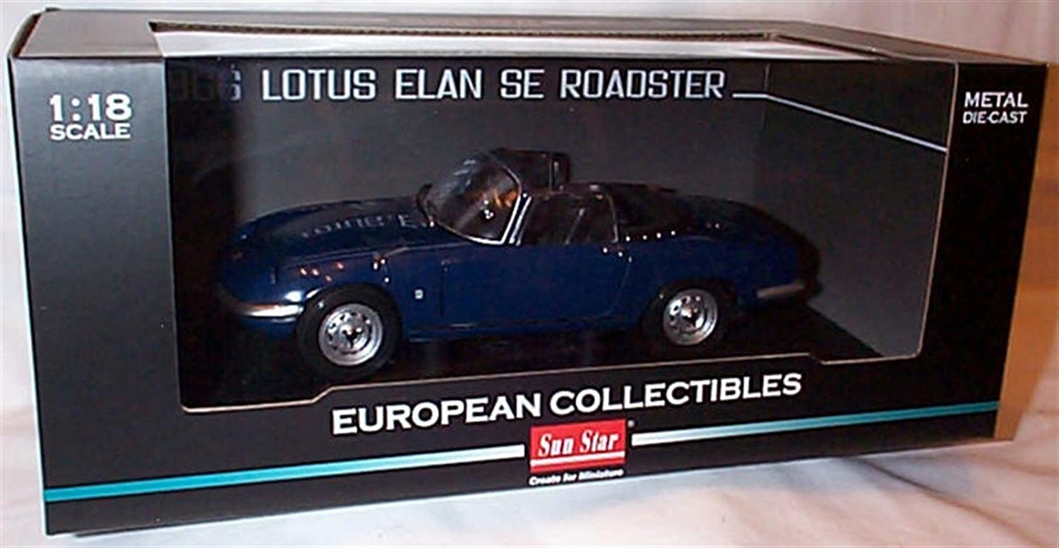 Sunstar dark bluee lotus elan SE roadster 1966 car 1.18 scale diecast model