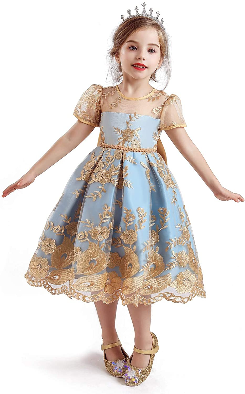 TTYAOVO Flower Girls Dresses Great interest Toddler Princess Party Popular popular Dres Wedding