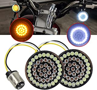 Turn Signals LED Lights Panel Compatible with Motorcycle Dyna Street Glide Road King (1157-W/A)
